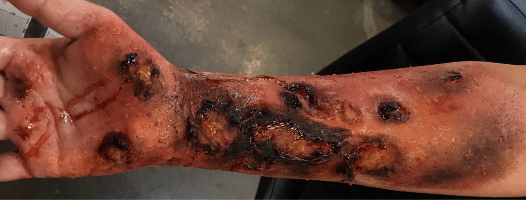 SFX created on foundation Makeup Course
